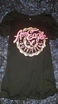 American Eagle Outfitters Summer 1977 Graphic Tee Womens Black Pink T-Shirt New - $10.00