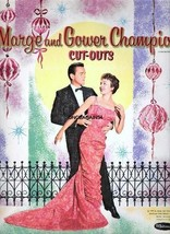 VINTAGE UNCUT 1959 MARGE & GOWER CHAMPION PAPER DOLLS~#1 REPRODUCTION~PR... - $19.25
