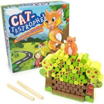 Cat-Tastrophe! Children's Dexterity Wood Family Game - $15.11