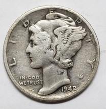 1942/1 Key Date Mercury Silver Dime 10¢ Coin Lot E 86