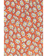 Marg Tarrant Fairies Woodrow London, White Daisies on Tonal Orange Quilt... - $5.93