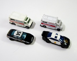 Hot Wheels #54 Police Car + 1993 Police Car + 1 Ambulance + 1 Maisto Amb... - $7.99