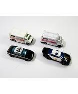 Hot Wheels #54 Police Car + 1993 Police Car + 1 Ambulance + 1 Maisto Amb... - $7.99