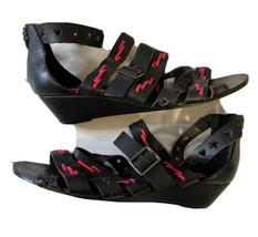 Betsey Johnson Women's Genuine Leather Sandals Bollt high-end American designer - $42.34