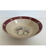 Royal Seasons Winter Scene Snowmen Snowflakes Stoneware Soup Cereal Bowl - $14.96