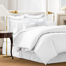 Charter Club Damask Stripe 500 Thread Count Twin Duvet Cover White - $59.37