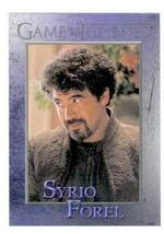 Game of Thrones trading card #42 2012 Syrio Forel - $4.00