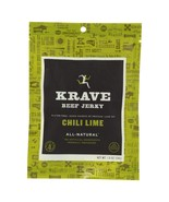 Krave Beef Jerky - Chili Lime - Case Of 18 - 1 Oz - $55.15