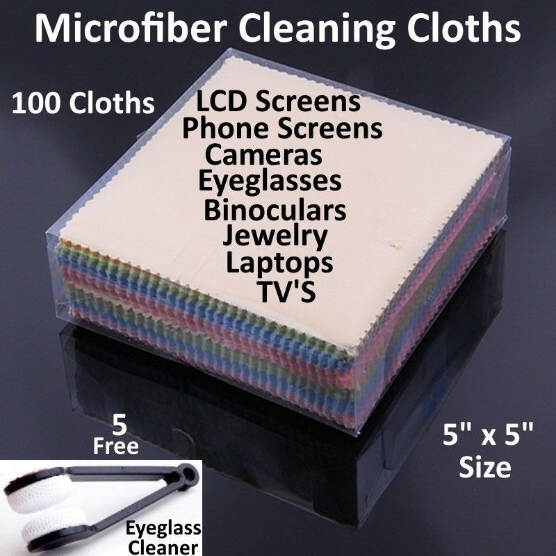 Microfiber Cleaning Cloth Laptop Camera Lens Eyeglasses TV Phone LCD Screen Lot image 12