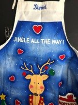 Daniel Christmas Apron Personalized NameReindeer Kitchen Chef's Apron Dan - $22.33