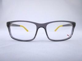 PUMA PE0016O 012 Optical Frame Gray Clear & Yellow Acetate Metal Eyeglas... - $99.07