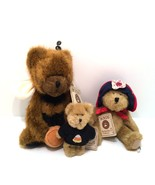 Boyds Bears The Head Bean Collection Three Hand Stitched Fully Jointed w... - $18.80