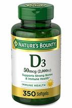 Nature's Bounty 2000IU Vitamin D for Immune Support. Vitamin D Provides ... - $22.43