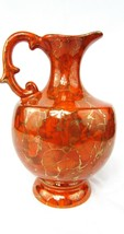 An item in the Antiques category: Vintage Alberta's LARGE Ceramic Ewer Pitcher Orange and Gold  EUC