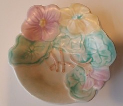 Vintage Avon Ware Dish Leaf Floral Pansy Hand Painted Plate England - $7.48