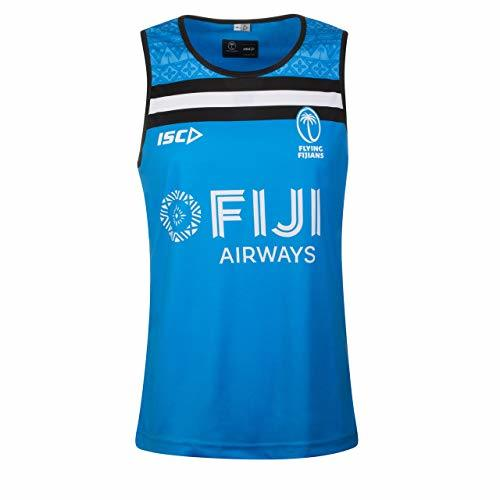 ISC Fiji 2019/20 Players Rugby Training Singlet - Blue (X-Large)