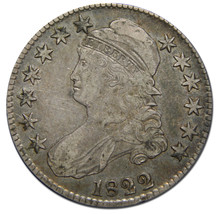 1822 Capped Bust Half Dollar 50¢ Coin Lot# MZ 3100