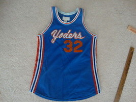 Vintage Yoders Stretch Nylon Harval Brand 70's Basketball Jersey S - $27.66