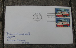 USA FIRST DAY OF ISSUE STAMP COVER Rome Erie Canal 1967 - $9.98