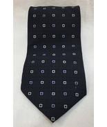 "Bergamo NY Neck Tie Mens Navy Blue Modern Square Check Silk 56"" Necktie  - $8.90"