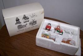 HERITAGE VILLAGE FARM SET - Set of 5 Handpainted Porcelain - Dept. 56 - ... - $19.99