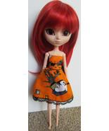 Halloween Ghost Pullip Momoko Jenny doll size hand made dress OOAK - $18.97