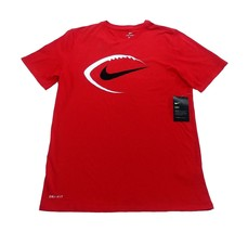 NIKE Football Dri-Fit Short Sleeve T-Shirt sz M Medium Red - $24.99