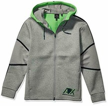A|X Armani Exchange Men's Hooded Zip up Sweatshirt, BROS BC09 Outs/C. GR, L - $74.24