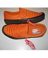 Vans Mens Slip On Lite Quilted Russet Orange Black Skate shoes Size 7.5 ... - $59.39