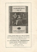 W9711 The Voice Of Owner - Catalogue Number Discs - Advertising 1935 - Old - $5.72