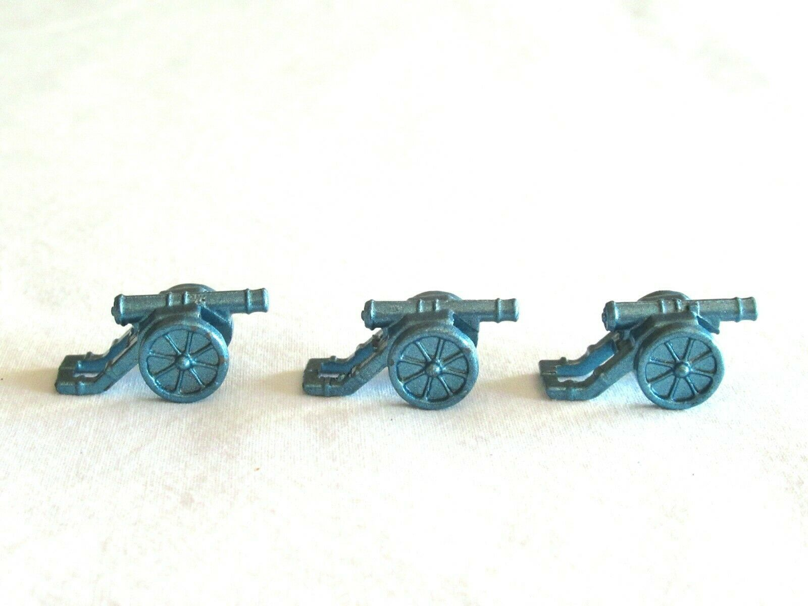 Primary image for 3x Risk 40th Anniversary Edition Board Game Metal Cannon Piece Blue Army Lot