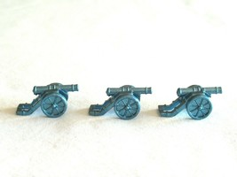 3x Risk 40th Anniversary Edition Board Game Metal Cannon Piece Blue Army Lot - $9.99