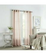 (1) Linden Street Brooke Pink ROSE Sheer Grommet Curtain 50x84 JCPENNEY ... - $68.59