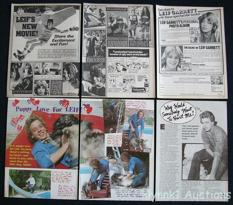 Leif Garrett Teen Idol 12 Full page Magazine Clippings 1970s V448 image 2