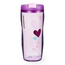 Starbucks Valentine Acrylic Tumbler Lavender Pink Sweetheart Birds 12 Oz... - $79.19
