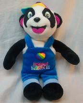 "Lisa Frank Cute Panda Painter Bear In Overalls 8"" Bean Bag Stuffed Animal - $14.85"