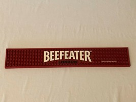 "Beefeater London Beer Tap Rubber Bar Spill Mat Red 21"" x 3.5"" - $19.99"