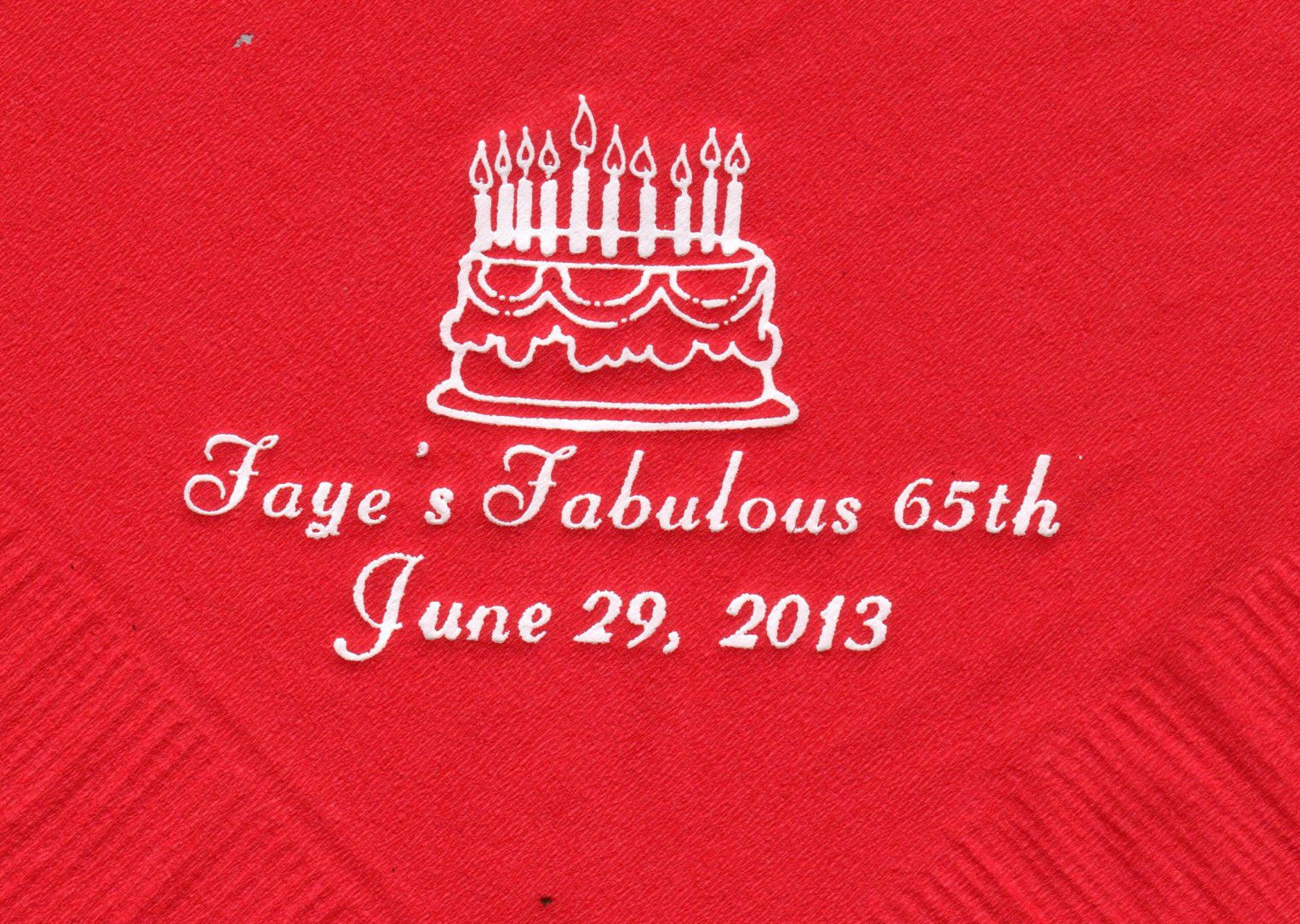 Primary image for BIRTHDAY CAKE LOGO 50 Personalized printed LUNCHEON DINNER napkins