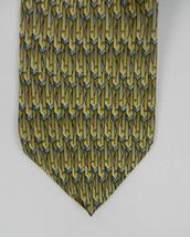 J. GARCIA Men's Neck Tie Gold Blue Clockworks Collection Twenty-Nine 100... - $19.00