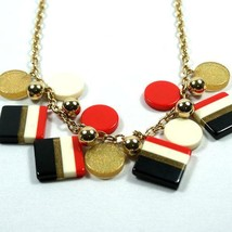 """Kate Spade New York Rare """"Color Cafe"""" Striped Chunky Long Red Black 32"""" Necklace - $69.99"""