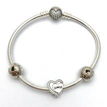 "Pandora Tribute to Mom Bracelet Gift Set, B800515-19, New in Box, Size 7.5"" - $176.55"
