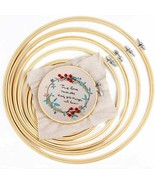 """IKAIN Embroidery Hoop,6 Pieces Bamboo Hoop Circle Cross Stitch Hoops 4 -10"""" - $15.00"""
