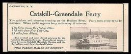 Catskill Greendale Ferry Hudson River 1927 Photo AD - $10.99