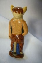 Vaillancourt Folk Art, Tiny Santa in Krampus costume Halloween  signed by Judi image 2