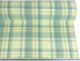 Tartan Check Wool Look and Feel Blue Cream Upholstery Fabric Material 3 ... - $4.26+