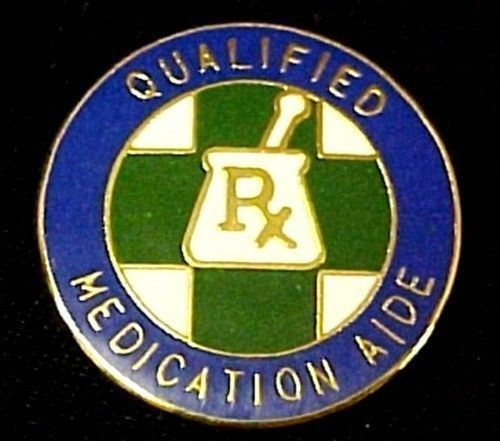 Qualified Medication Aide Lapel Pin  Graduation Recognition RX Medical 5029 New