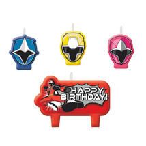 POWER RANGERS NINJA Birthday Party Supplies HAPPY BIRTHDAY CANDLE SET - $5.99