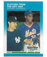 1987 Fleer #638 Don Mattingly/Darryl Strawberry NM Near Mint Sluggers fr... - $0.75