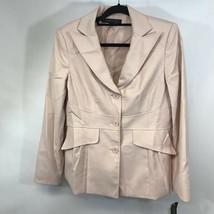Anne Klein Womens Suit Jacket Blush Pink Lined Long Sleeve Peak Lapel 12... - $29.69