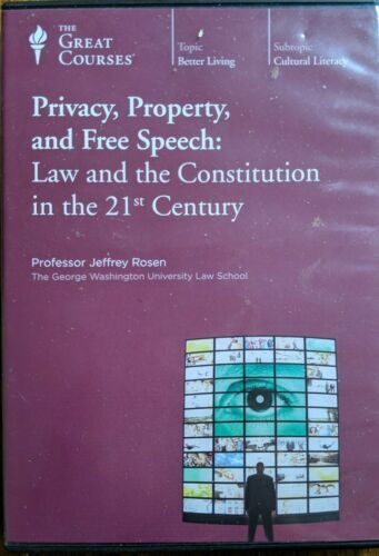 Primary image for Great Courses- Privacy, Property, and Free Speech: Law & the Constitution